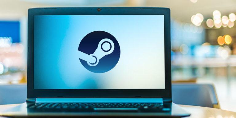 Steam Logo on Laptop