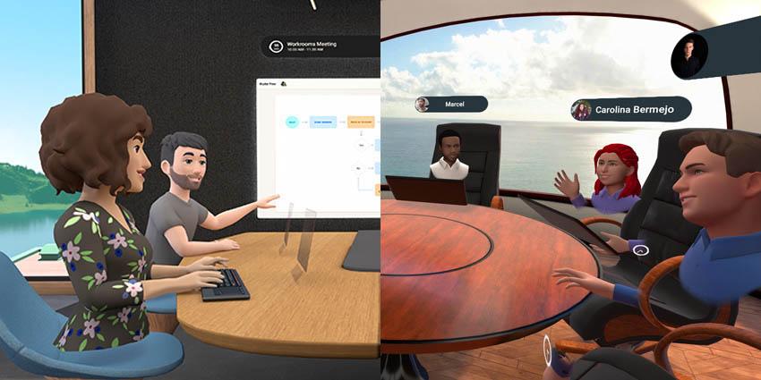 Facebook Horizon Workrooms vs MeetinVR